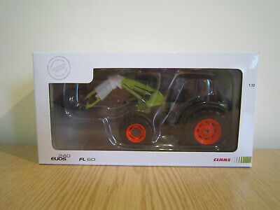 Marge Models Brand New Claas Elios 240 With Fl60 Mint In Mint Claas Box 1/32 • 27.50£
