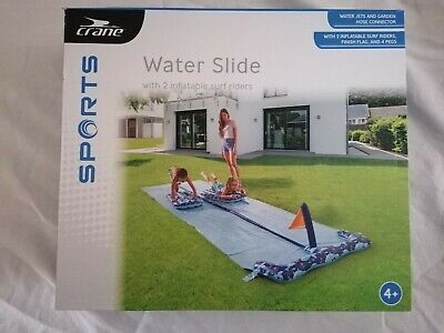 488x140cm Crane Water DOUBLE Slip And Slide With 2x Inflatable Surf Riders Aldi • 25.99£