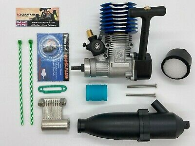 Nitro Engine 1/10 Universal RC Buggy Truck Car With  + Exhaust + Filter + Plug • 69.99£