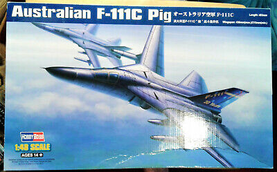 Hobbyboss, 1:48, Australian F-111C Pig (80349) New. Some Shelf Wear To Box. • 30£