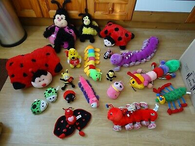 Bundle 19 X Plush BUGS & INSECTS Soft Toys 25 Ins Long Max - Inc I LOVE MY HONEY • 5.99£