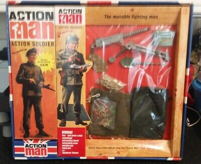 Vintage Action Man 40th Anniversary Flocked Hair Soldier With 2 Bivouac Cards. • 150£