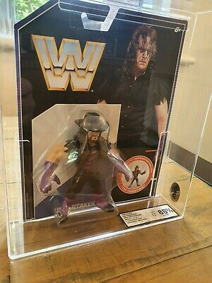 WWE Mattel Retro Undertaker Series 1 MOC Graded 85% RWG Carded WWF Figure • 80£