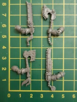 Warhammer 40k Chaos Space Marine Chain Axe Melee Arms X4 Khorne Berzerkers New  • 3.49£