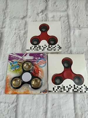 Fidget/hand Spinners, Set Of 3, All New And Boxed. One Has A Scratch On It • 3£