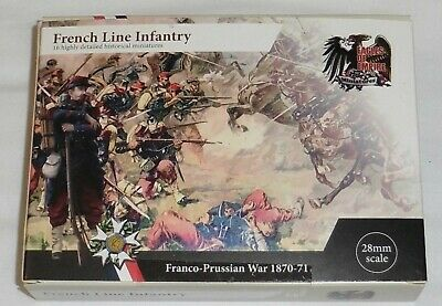 28mm Eagles Of Empire Miniatures Metal French Line Infantry Franco-Prussian War • 20£