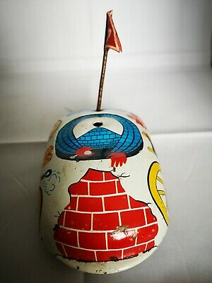 Tin Toy Wind Up Friction Dodgem Made In Gdr Very Used Condition • 10£