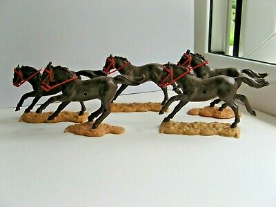 Timpo - Five Dark Brown Horses For - Cowboys/indians/mexicans/cavalry/knights/+ • 17.50£
