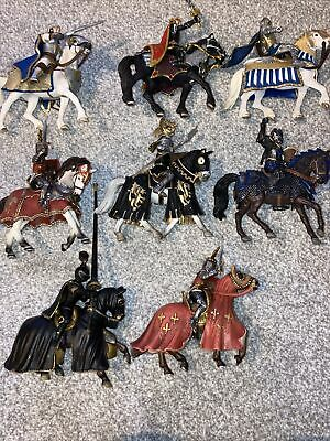Schleich Bundle Of 8 Knights And Horses. Toys • 25£