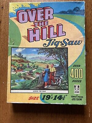 Vintage TOWER PRESS Over The Hill Across The Dale Jigsaw Puzzle Complete 400 • 2.50£