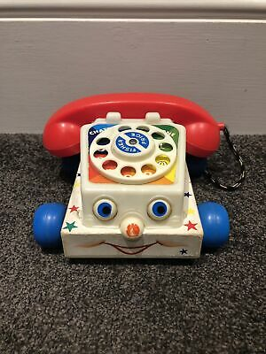 Fisher Price Telephone 1961 Phone Kids Toy Pull Along 747 Vintage Collectable • 9.95£