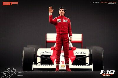 1:18 Alain Prost Figurine VERY RARE !!! NO CARS !! For Ferrari  Mclaren By SF • 104.28£