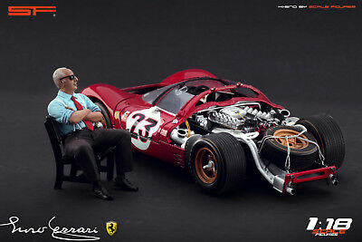 1:18 Enzo Ferrari Sitting VERY RARE!!! Figurine NO CARS !! For Diecast By SF • 66.77£