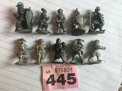 Job Lot Of 10 Metal Pre Slotta Solid Based Fighters Warriors Some Citadel RPGs • 7.50£