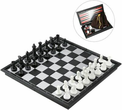 IBaseToy 3 In 1 Magnetic Travel Chess Set, Fodlable Black+white • 29.49£