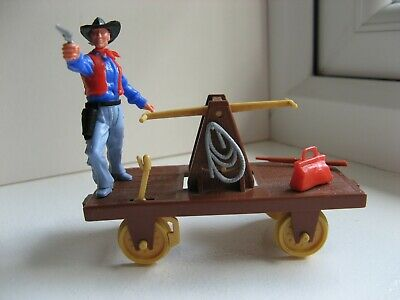 Timpo - Wild West Rail Handcar With Standing Cowboy. • 38£