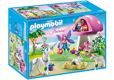Playmobil 6055 Fairies With Toadstool House (Playset) Age 4+ For Girls • 54.99£