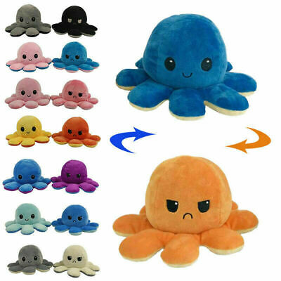 Double-Sided Flip Reversible Octopus Plush Toy Squid Stuffed Doll Toys Gifts • 4.95£