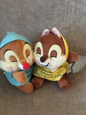 Disney Store Chip And Dale In Raincoats Soft Plush Toy Teddy • 7.50£