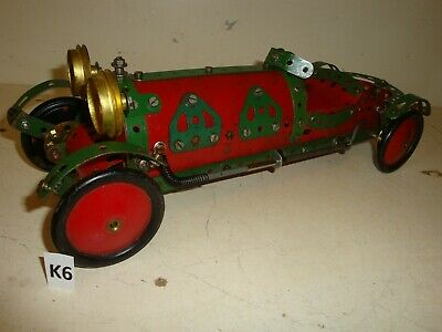 EARLY MECCANO VINTAGE BENTLEY OPEN TOURING CAR IN 1950s RED & GREEN • 30£