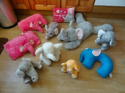 Bundle 10 X Plush LARGE ELEPHANTS Soft Toys 32 Ins Long Max - Inc. DAUGHTER • 5.99£