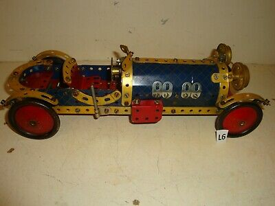 COLLECTORS ITEM MECCANO VINTAGE BENTLEY OPEN TOURING CAR IN 1930,s BLUE GOLD     • 30£