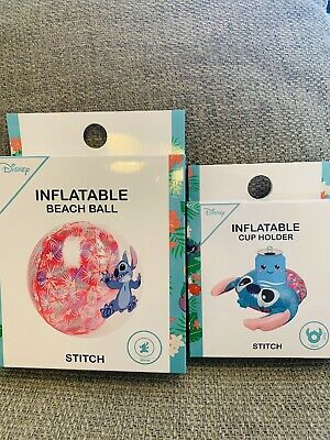Disney Primark Stitch Inflatable Ball And Cup Holder Brand New  • 14£