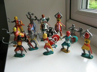 Timpo - Four Mounted And Eight Standing Medieval And Silver Knights. • 9.99£