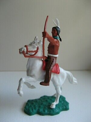 Timpo - Mounted Indian With Rare Dark Brown Legs. • 25£