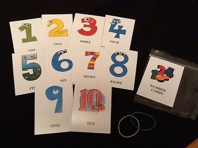 Educational Cards - Numbers 1-10 Flashcards - ELFS - (rounded Corners) • 3.99£