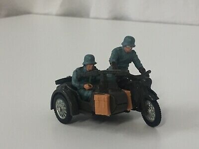 Brittains Deetail German Army BMW Motorcycle With 2 Soldiers, Excellent. • 16.50£