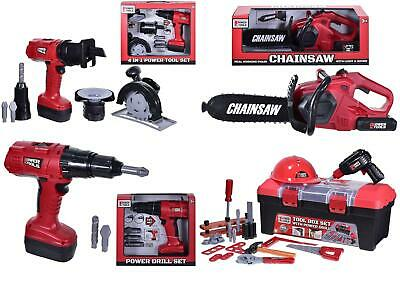 Kids Pretend Play Tool Box Set Drill Chainsaw Boys Workshop Construction Toy • 14.89£