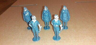 5 X Vintage Lead/metal Johillco  John Hill Co Raf Airmen/mechanic • 3.20£
