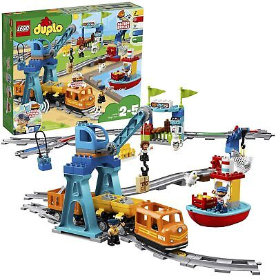 LEGO 10875 DUPLO Town Cargo Train With Sound & Light, Direction & Stop Action • 84.99£