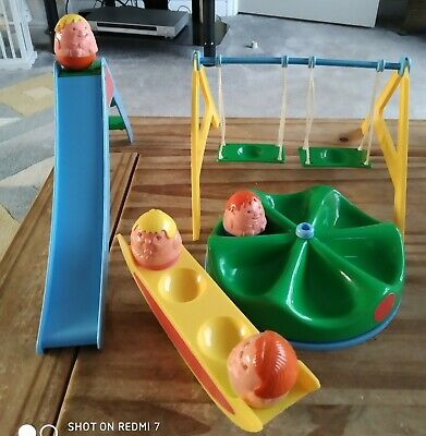 VINTAGE 1970'S AIRFIX WEEBLE X 4 PLAYGROUND Slide Double Swing Seesaw Roundabout • 29.90£
