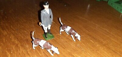 3 X Item Britains Hunt Series(lead/metal)standing Huntsman & 2 X Dog Fox Hound • 16.01£