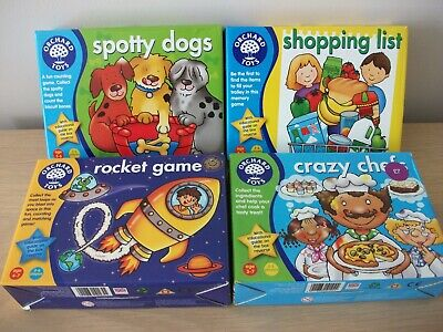 Orchard Games X 4, Crazy Chefs, Shopping List, Rocket Game, Spotty Dogs • 15£