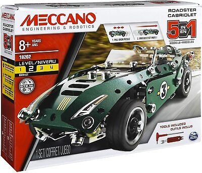 Meccano Rally Racer 1 Model Set With Electric Motor Cabriolet Kit 174 Pieces • 14.59£