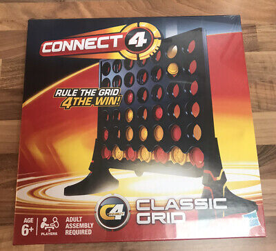 Hasbro Connect 4 Classic Grid Game New Sealed • 16.99£