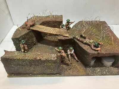 WW2 Hand Made Diorama - 1/32 Scale British Support Team In A Trench • 11.99£