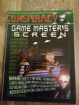 CONSPIRACY X - Game Master's Screen • 8.17£