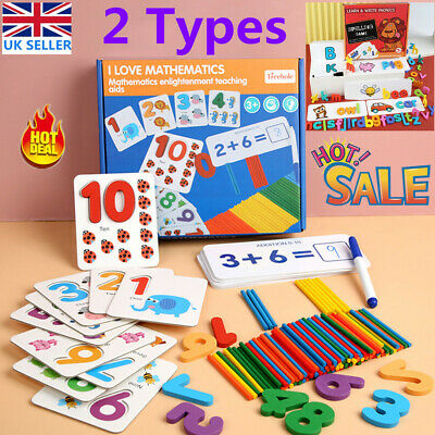 Educational Spelling Alphabet Card Maths Numbers Learning Kids Toddler Toys Gift • 8.79£