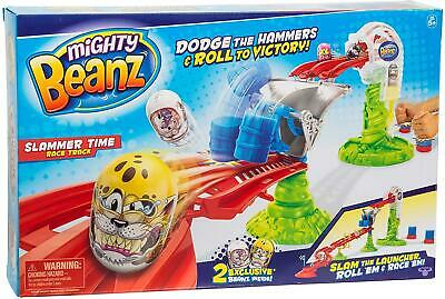 Mighty Beanz - SLAMMER TIME RACE TRACK - Includes 2 Exclusive Beanz - NEW • 14.99£