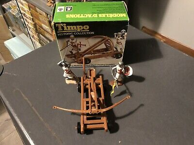 Timpo Historic Series Crusaders Boxed With Catapult • 35£