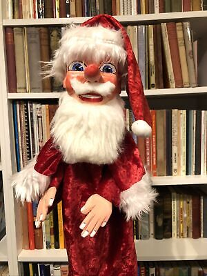 Professional Hand Carved Father Christmas Santa Clause Punch And Judy Puppet  • 102£