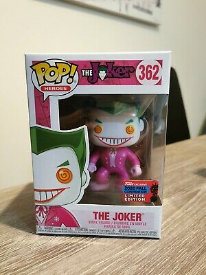 NYCC EXCLUSIVE 2020 The Joker Pink Breast Cancer Awareness Funko Pop #362 • 40£