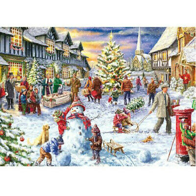1000 Piece Jigsaw Puzzle Children-Adult Christmas Snowman Puzzles Xmas Cities ✅ • 9.99£