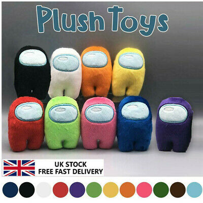 Soft Plush Among Us Colorful Crewmate Plushie Toys Game Dolls Originals • 4.89£