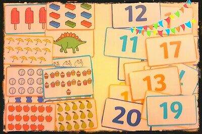 Teaching - Numeracy -  Number Cards To 20 Matching Counting EYFS Reception • 3.75£
