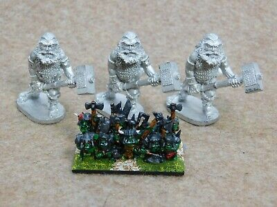 Warmaster Orcs And Goblins Metal GIANTS X3 Unknown Make 64665 • 2.99£